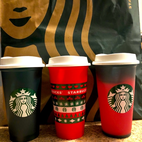 Starbucks Holiday 2020 Color Changing Green To Red Hot Reusable Cup 16 oz 3